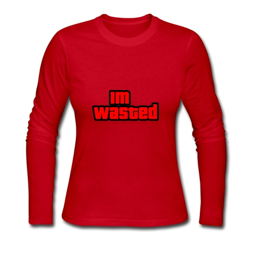 Im Wasted (Gta Text) - Women's Long Sleeve Jersey T-Shirt