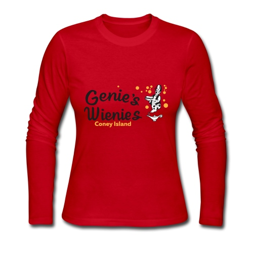 Genies Wienies Coney Island - Women's Long Sleeve Jersey T-Shirt
