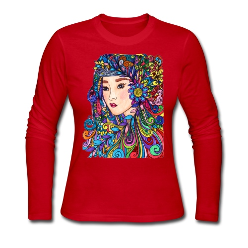 woman - Women's Long Sleeve Jersey T-Shirt