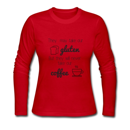 Gluten but not Coffee Script - Women's Long Sleeve Jersey T-Shirt
