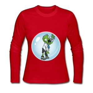 Zombie in a bubble - Women's Long Sleeve Jersey T-Shirt