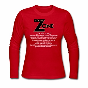 in the zone definition 2 - Women's Long Sleeve Jersey T-Shirt