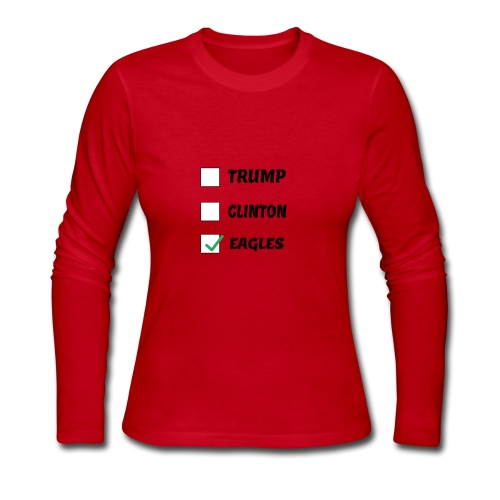 Humorous Voting eagles shirt - Women's Long Sleeve Jersey T-Shirt