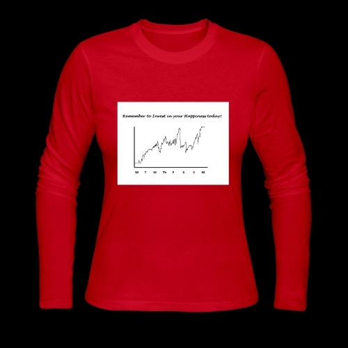 Invest In Your Happiness - Women's Long Sleeve Jersey T-Shirt
