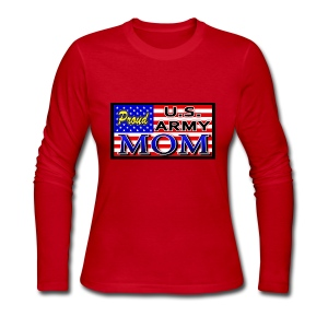 Proud Army mom - Women's Long Sleeve Jersey T-Shirt