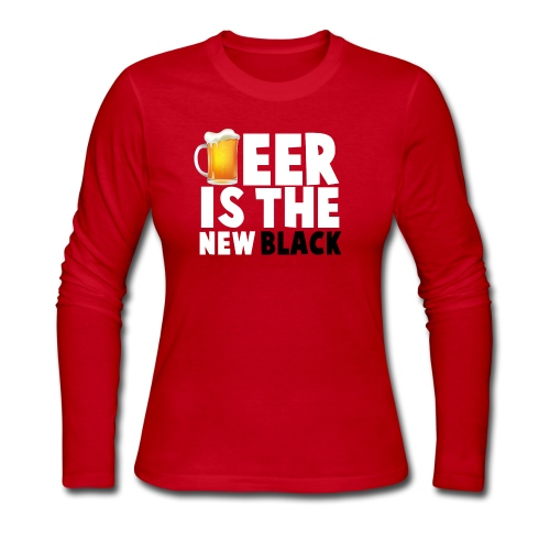 Beer Is The New Black - Women's Long Sleeve Jersey T-Shirt