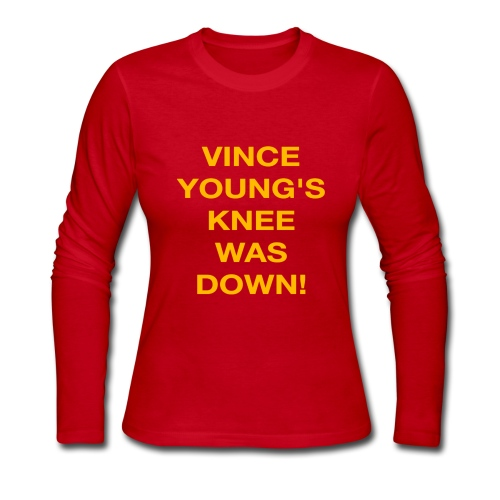 Vince Young's Knee Was Down - Women's Long Sleeve Jersey T-Shirt