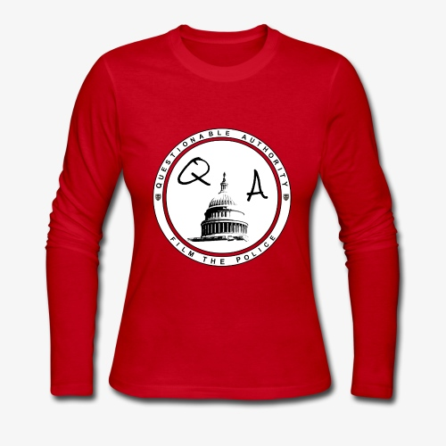 Questionable Authority Film the Police - Women's Long Sleeve Jersey T-Shirt