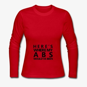 New Year | Here's where my abs would've been Black - Women's Long Sleeve Jersey T-Shirt