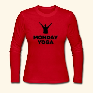 monday yoga - Women's Long Sleeve Jersey T-Shirt