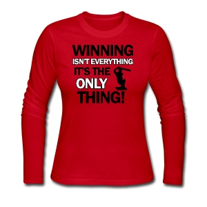 cricket wining tee - Women's Long Sleeve Jersey T-Shirt