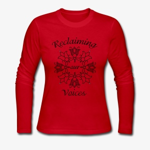 Reclaiming Our Voices - Women's Long Sleeve Jersey T-Shirt