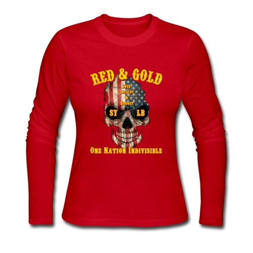 Red and Gold Indivisible tee - Women's Long Sleeve Jersey T-Shirt