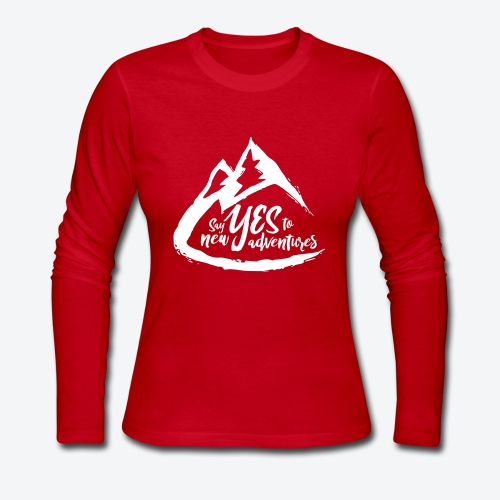 Say Yes to Adventure - Light - Women's Long Sleeve Jersey T-Shirt