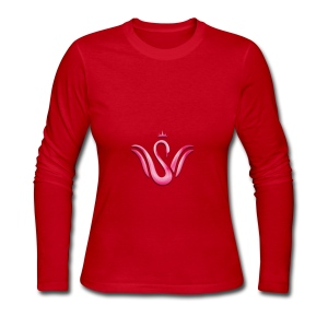 Queen Swan - Women's Long Sleeve Jersey T-Shirt