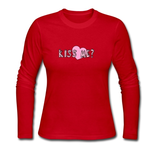 Kiss me? - Women's Long Sleeve Jersey T-Shirt