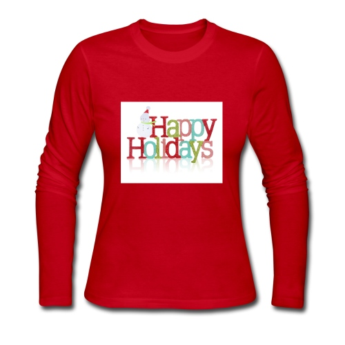 Happy Holidays - Women's Long Sleeve Jersey T-Shirt