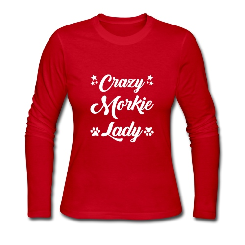 crazy morkie lady - Women's Long Sleeve Jersey T-Shirt