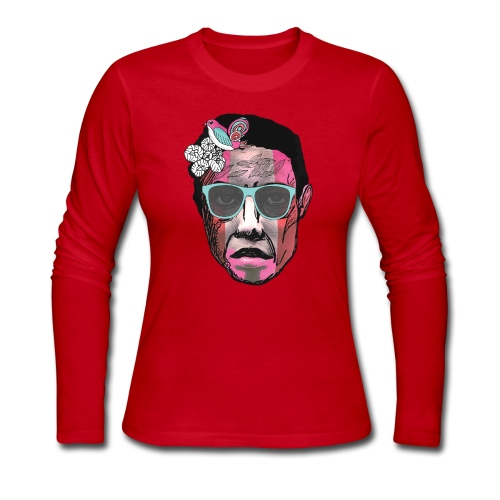 Face with Stripes - Women's Long Sleeve Jersey T-Shirt