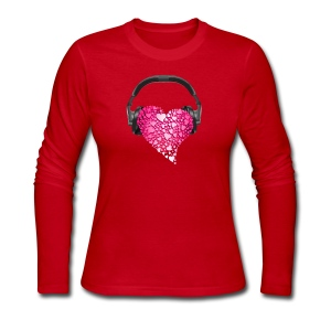 Music in my heart - Women's Long Sleeve Jersey T-Shirt
