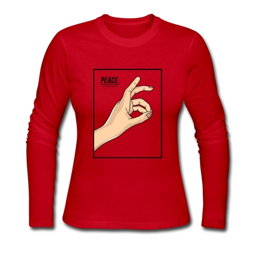 Peace Design by Ariff Firdaus - Women's Long Sleeve Jersey T-Shirt