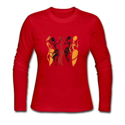 african danceers - Women's Long Sleeve Jersey T-Shirt