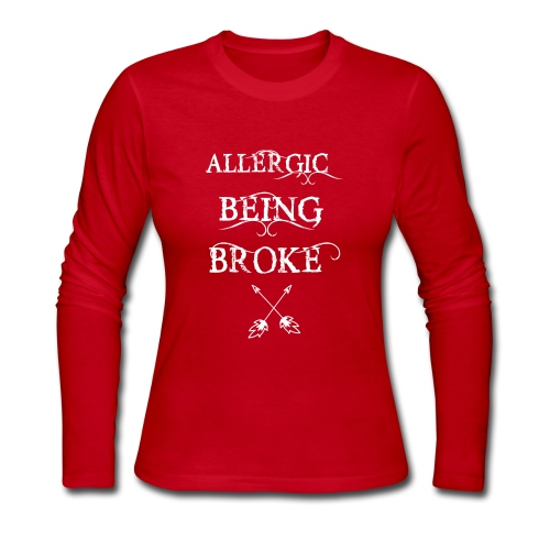 T shirt design1 png allergic - Women's Long Sleeve Jersey T-Shirt
