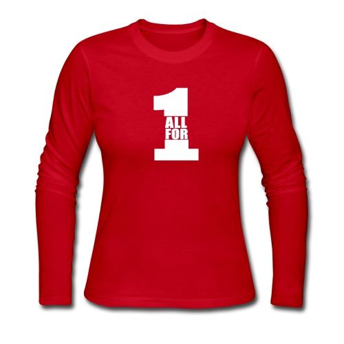 All For One -White- Best Selling Design Best Gifts - Women's Long Sleeve Jersey T-Shirt