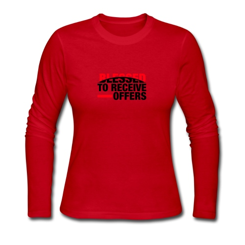 Blessed To Receive Offers - Women's Long Sleeve Jersey T-Shirt