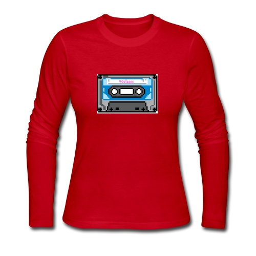 90s Tapes Brand Logo - Women's Long Sleeve Jersey T-Shirt