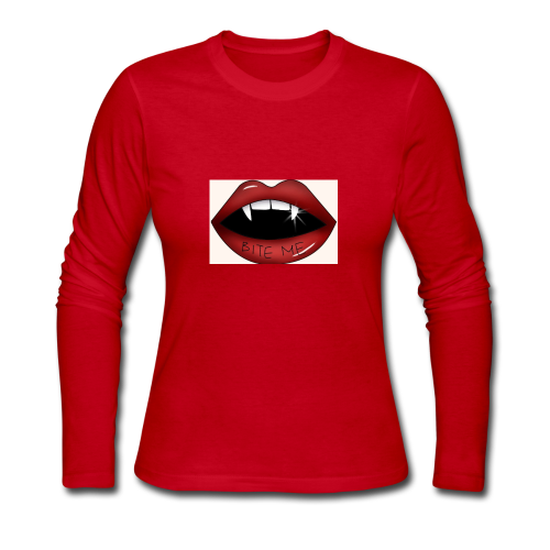 Bite Me - Women's Long Sleeve Jersey T-Shirt