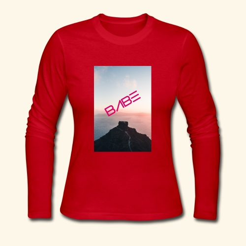 Mountain Of BABE - Women's Long Sleeve Jersey T-Shirt