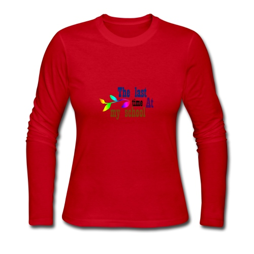 The last time at my school - Women's Long Sleeve Jersey T-Shirt