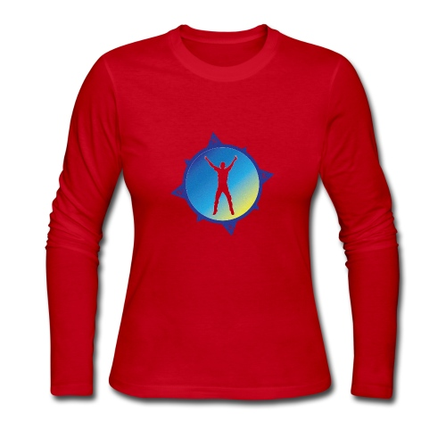 Compass Guy - Women's Long Sleeve Jersey T-Shirt