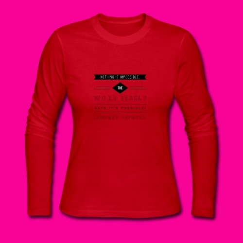 Audrey Hepburn - Women's Long Sleeve Jersey T-Shirt
