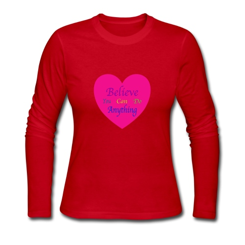Believe You Can Do Anything - Women's Long Sleeve Jersey T-Shirt