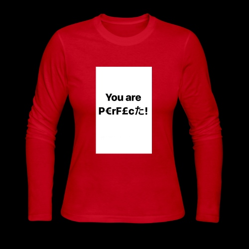 You Are Perfect! - Women's Long Sleeve Jersey T-Shirt