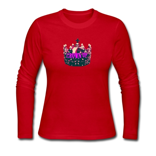 Crown Up T Shirt Female 2 - Women's Long Sleeve Jersey T-Shirt