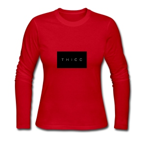 T H I C C T-shirts,hoodies,mugs etc. - Women's Long Sleeve Jersey T-Shirt
