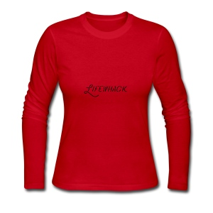 Black Lifewhack Logo Products - Women's Long Sleeve Jersey T-Shirt