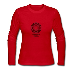 Greatness Within - Women's Long Sleeve Jersey T-Shirt