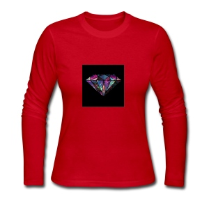Diamondfashion - Women's Long Sleeve Jersey T-Shirt
