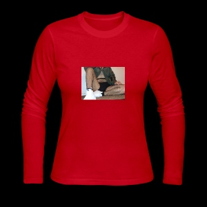 self modeled - Women's Long Sleeve Jersey T-Shirt
