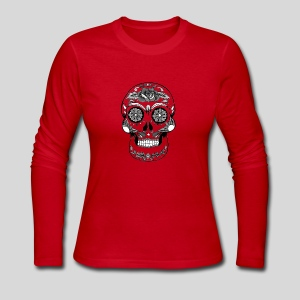 Catrina Black & White - Women's Long Sleeve Jersey T-Shirt