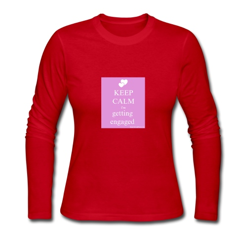 keep calm im getting engaged - Women's Long Sleeve Jersey T-Shirt
