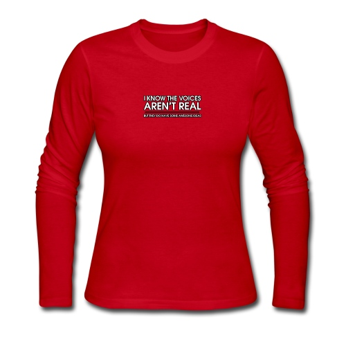 VOICES AREN'T REAL - Women's Long Sleeve Jersey T-Shirt