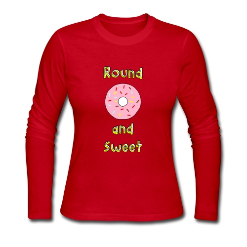 Round and Sweet - Candy Donut Design - Women's Long Sleeve Jersey T-Shirt