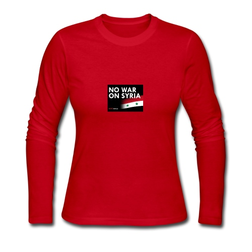 no war on syria - Women's Long Sleeve Jersey T-Shirt
