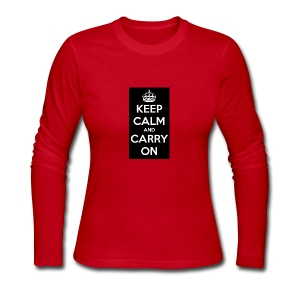 KEEP CALM AND SUB TO DIAMOND - Women's Long Sleeve Jersey T-Shirt