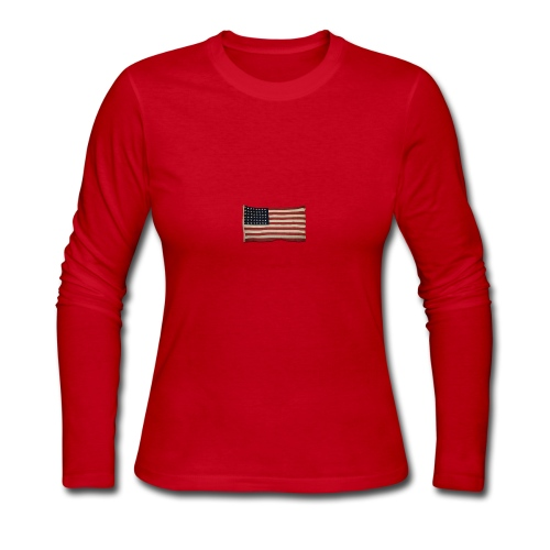 WWII Era Garrison Flag - Women's Long Sleeve Jersey T-Shirt